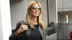 Heidi Klum Flies in Style