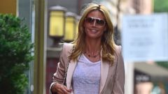 Heidi Klum Flashes a Smile in NYC
