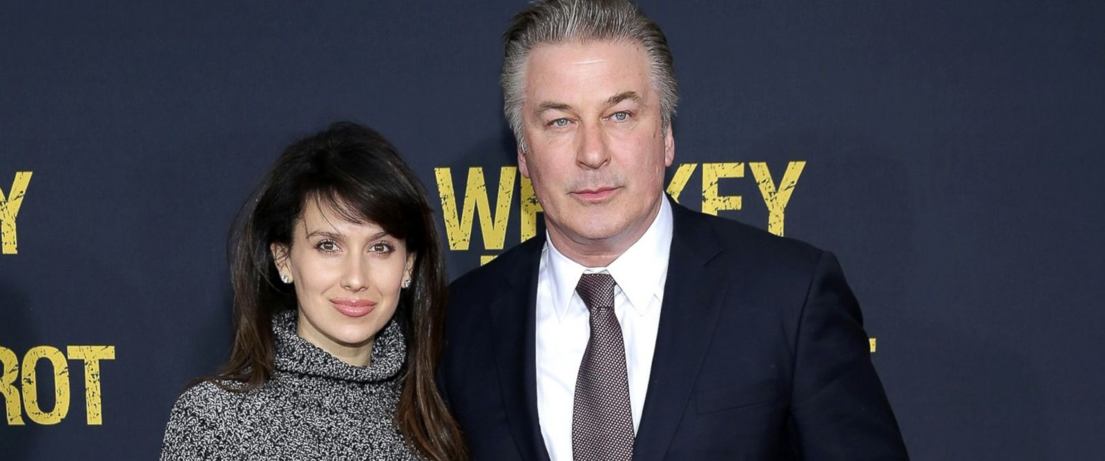 "PHOTO: Hilaria Thomas Baldwin and Alec Baldwin attend the World Premiere of the Paramount Pictures title ""Whiskey Tango Foxtrot"", March 1, 2016, in New York City."