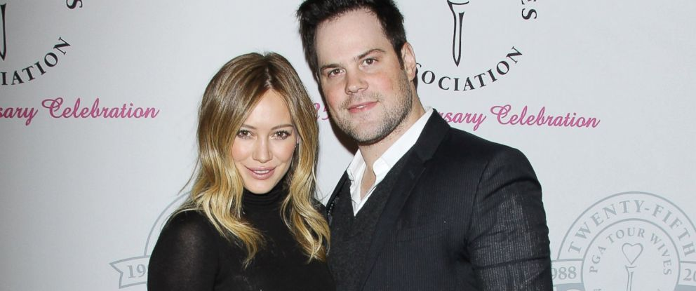 PHOTO: In this file photo, Hilary Duff, left, and Mike Comrie, right, are pictured on Feb. 11, 2013 in Santa Monica, Calif.