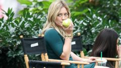 Hilary Duff Relaxes on the Younger Set