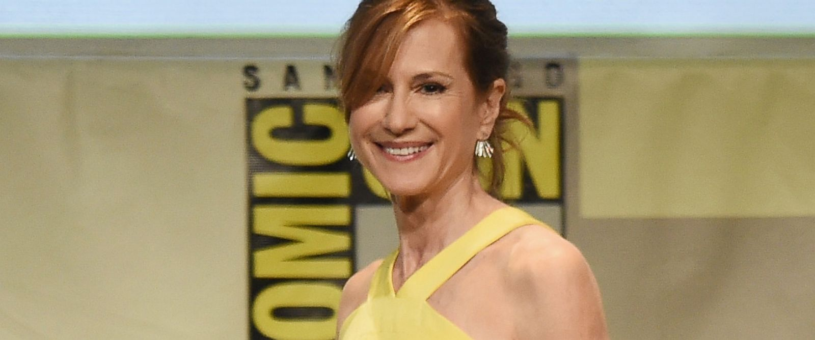 "PHOTO: Holly Hunter from ""Batman v. Superman: Dawn of Justice"" attends the Warner Bros. presentation during Comic-Con International 2015 at the San Diego Convention Center on July 11, 2015 in San Diego, Calif."