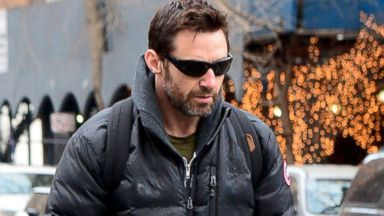 Hugh Jackman Steps Out with His Scooter-and His Dog