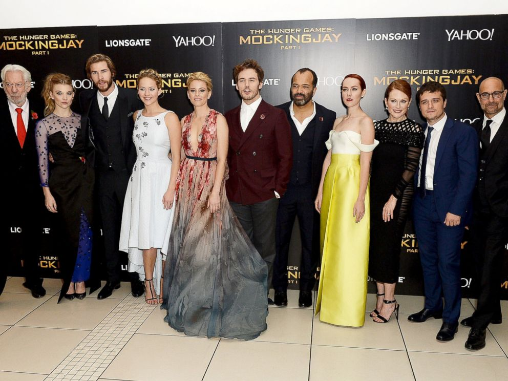 PHOTO: The Hunger Games cast attend the World Premiere of The Hunger Games: Mockingjay Part 1 at Odeon Leicester Square, Nov. 10, 2014 in London.