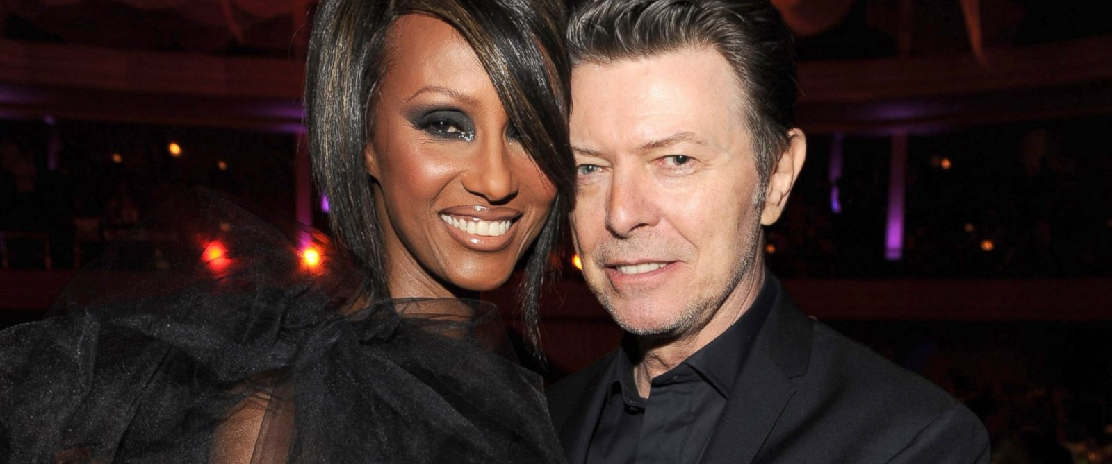 PHOTO: Iman and David Bowie attend the Keep A Child Alives 6th Annual Black Ball hosted by Alicia Keys and Padma Lakshmi at Hammerstein Ballroom, Oct. 15, 2009, in New York City.