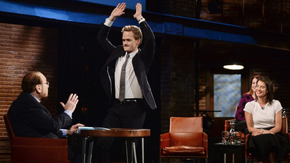 "PHOTO: The cast of ""How I Met Your Mother"" is pictured during a taping of ""Inside the Actors Studio,"" from left, host James Lipton, Neil Patrick Harris, and Cobie Smulders."