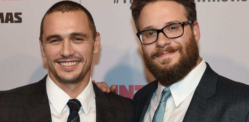 PHOTO: James Franco and Seth Rogen arrive for the premiere of the film The Interview