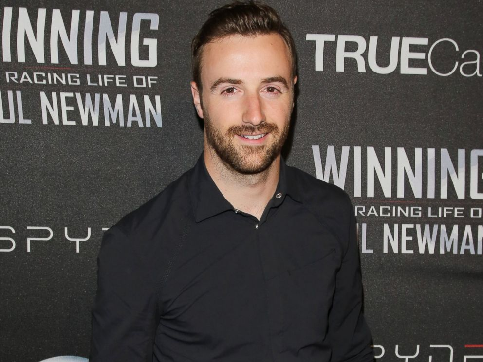 PHOTO: Race car driver James Hinchcliffe attends the screening of WINNING: The Racing Life Of Paul Newman at the El Capitan Theatre, April 16, 2015, in Hollywood, California.
