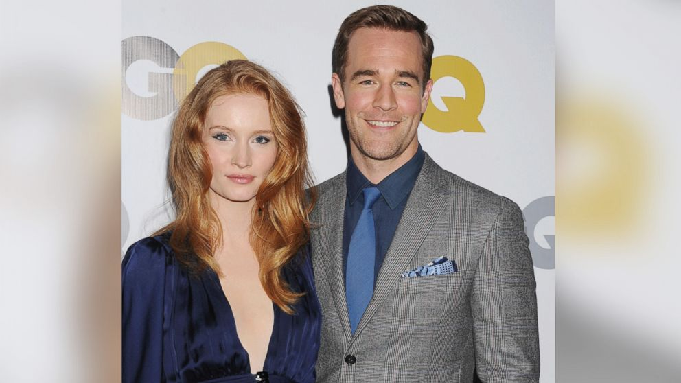 PHOTO: In this file photo, James Van Der Beek, right, and wife Kimberly Van Der Beek, left, are pictured on Nov. 12, 2013 in Los Angeles.