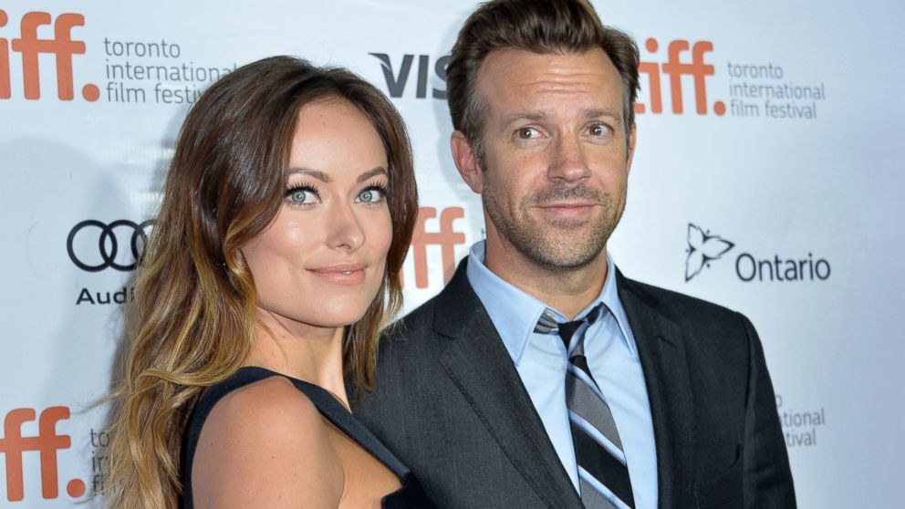 "PHOTO: Olivia Wilde and Jason Sudeikis attend the ""Rush"" premiere during the 2013 Toronto International Film Festival, Sept. 8, 2013, in Toronto."