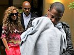 PHOTO: Beyonce, Jay Z and their baby Blue Ivy Carter leave the MEURICE hotel,  June 4, 2012 in Paris, France.  (Photo by Marc Piasecki/FilmMagic)
