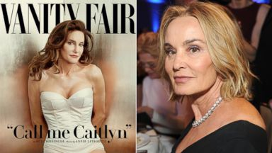 PHOTO: Caitlyn Jenner, left, is pictured on the June 9, 2015 cover of Vanity Fair. Jessica Lange, right, is pictured on May 31, 2015 in Beverly Hills, Calif.