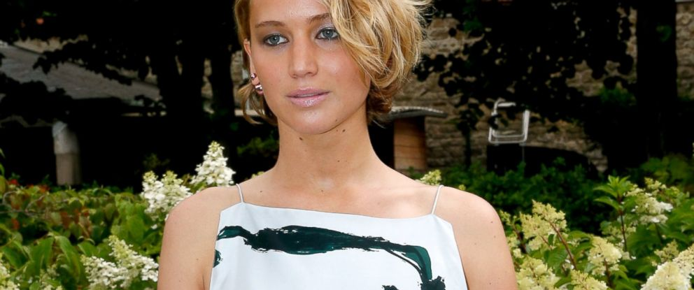 PHOTO: Jennifer Lawrence attends the Christian Dior show as part of Paris Fashion Week - Haute Couture Fall/Winter 2014-2015 Held at Musee Rodin, July 7, 2014, in Paris.