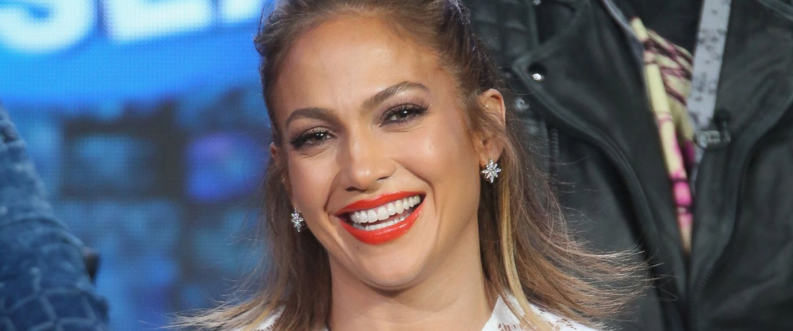 "PHOTO: Jennifer Lopez speaks onstage during the ""American Idol"" panel discussion, Jan. 15, 2016 in Pasadena, Calif."