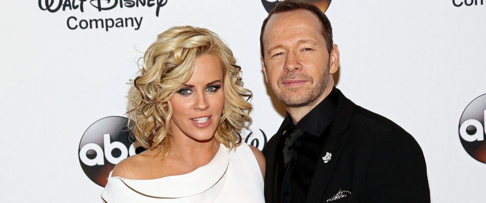 PHOTO: Jenny McCarthy and Donnie Wahlberg attend A Celebration of Barbara Walters Cocktail Reception at the Four Seasons Restaurant, May 14, 2014, in New York City.