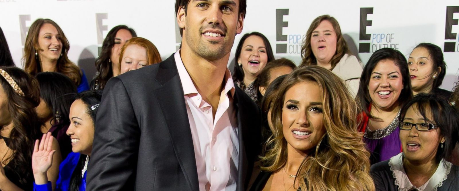 PHOTO: Eric Decker and Jessie James attend the E! 2013 Upfront