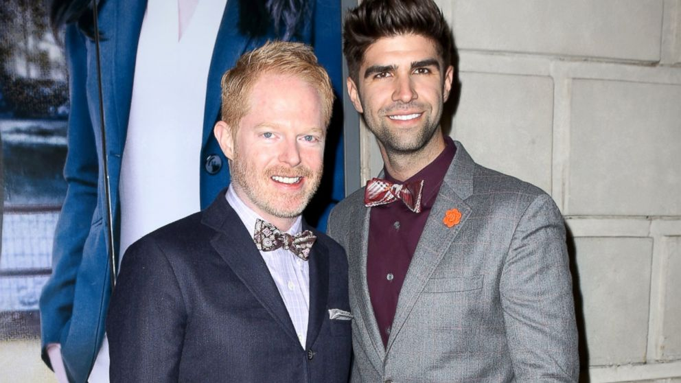 "PHOTO: Jesse Tyler Ferguson and Justin Mikita attend the ""If/Then"" Broadway Opening Night at Richard Rodgers Theatre, March 30, 2014, in New York City."