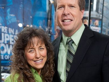 PHOTO: Jim Bob and Michelle Duggar visit Extra at H&M in Times Square, March 11, 2014, in New York