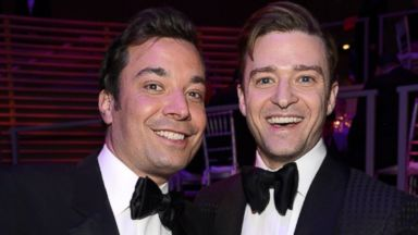 PHOTO: Jimmy Fallon and Justin Timberlake attend TIME 100 Gala, TIMES 100 Most Influential People In The World at Jazz at Lincoln Center on April 23, 2013 in New York City.