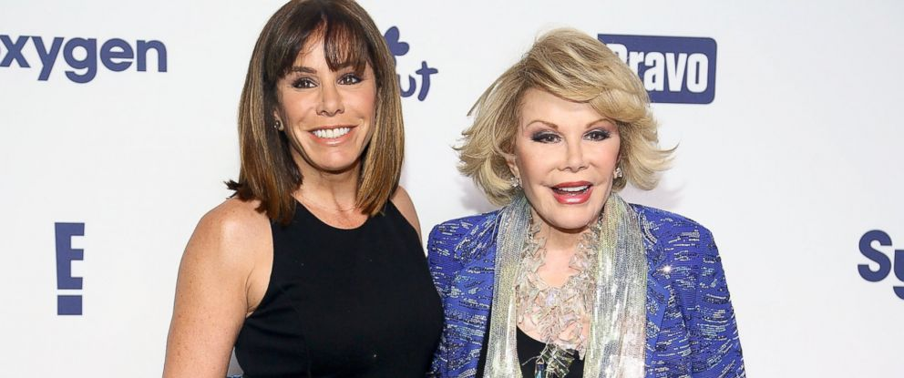 PHOTO: Melissa Rivers and Joan Rivers attend the 2014 NBCUniversal Cable Entertainment Upfronts at The Jacob K. Javits Convention Center, May 15, 2014, in New York City.