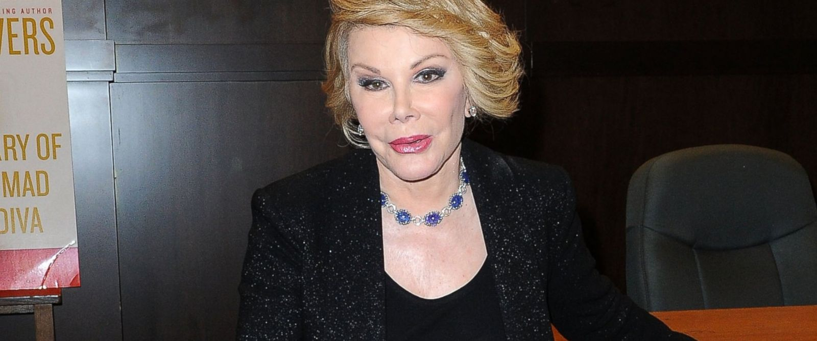 "Joan Rivers attends her book signing for ""Diary Of A Mad Diva"" at Barnes & Noble bookstore on July 10, 2014 in Los Angeles, Calif."