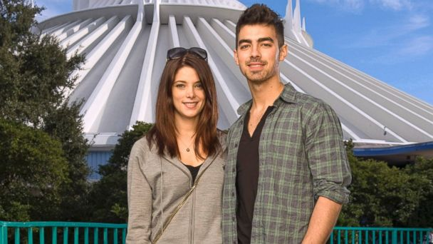 "PHOTO: ""Twilight"" star Ashley Greene poses with actor/singer Joe Jonas of the pop-rock trio ""Jonas Brothers,"" in front of Space Mountain at the Magic Kingdom, Dec. 29, 2010 in Lake Buena Vista, Fla."