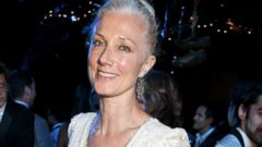 Joely Richardson Stuns in White at Summer Gala