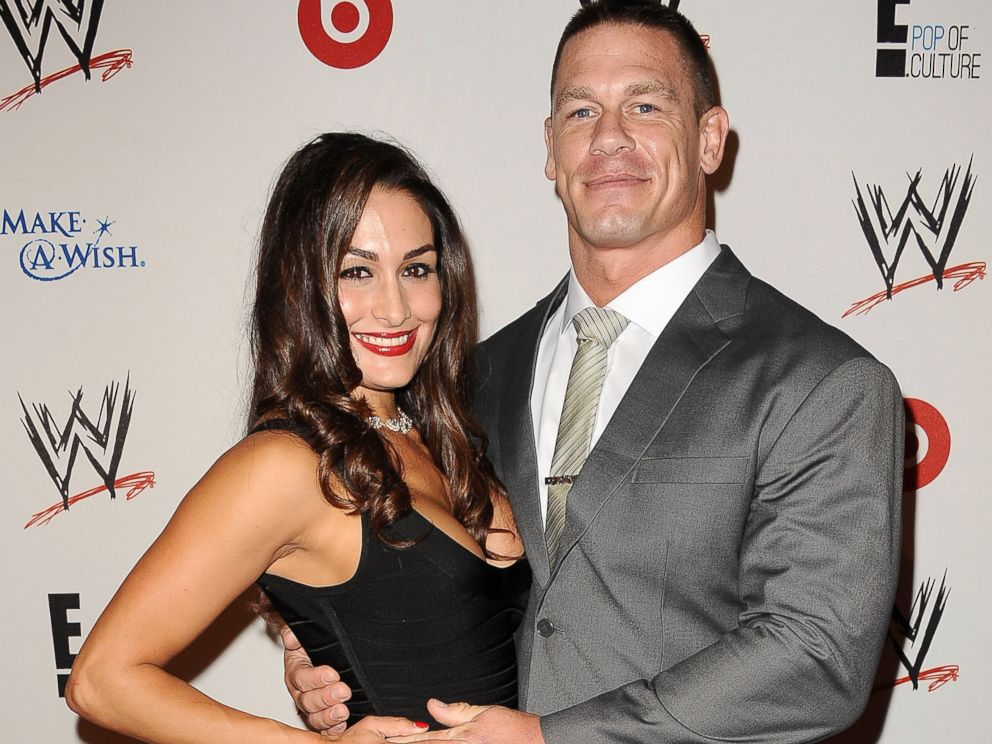 PHOTO: WWE Diva Nikki Bella and wrestler John Cena attend the WWE SummerSlam VIP party at Beverly Hills Hotel, Aug. 15, 2013, in Beverly Hills, Calif.