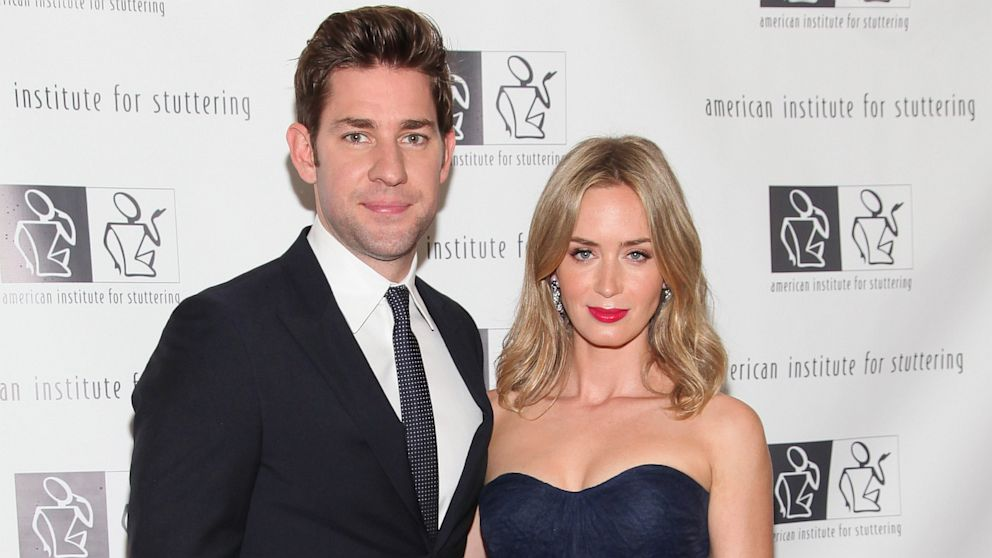 PHOTO: John Krasinski and Emily Blunt attend a gala at Tribeca Rooftop, June 3, 2013, in New York City.