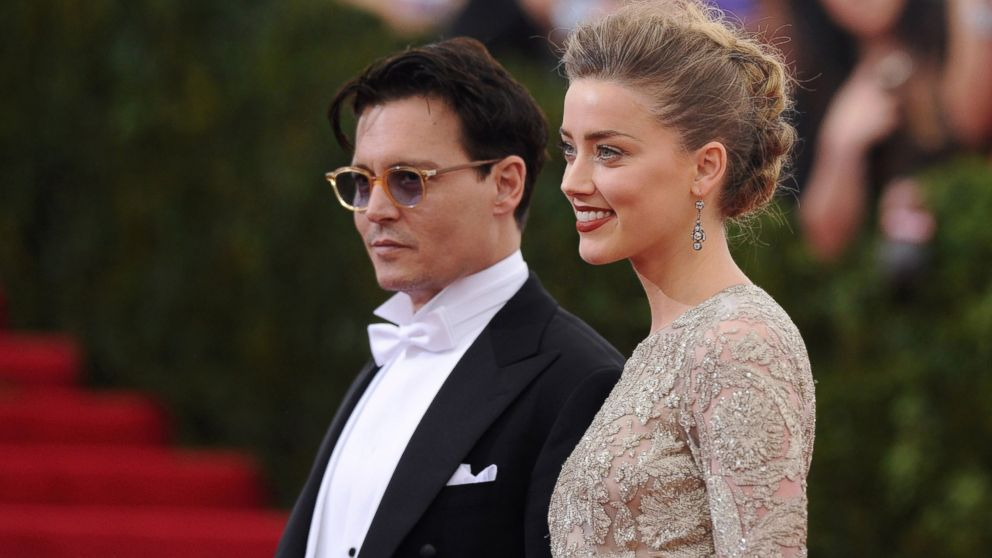 PHOTO: Johnny Depp, left, and Amber Heard, right, are pictured on May 5, 2014 in New York City.