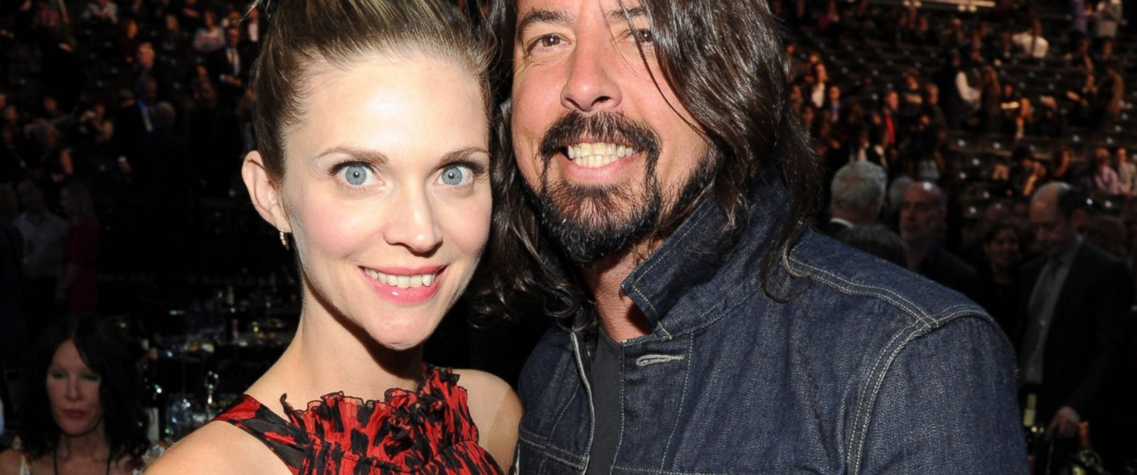PHOTO: Jordyn Blum and Dave Grohl attend the 29th Annual Rock And Roll Hall Of Fame Induction Ceremony at Barclays Center in Brooklyn, New York, April 10, 2014.