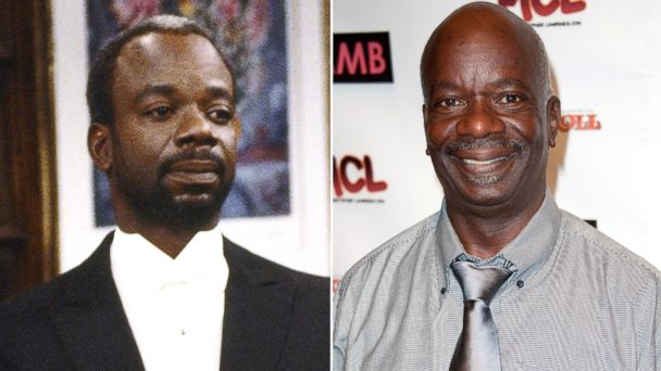 "PHOTO: Joseph Marcell, left, as Geoffrey in ""The Fresh Prince Of Bel-Air."" Joseph Marcell, right, attends WordTheatre presents ""Storytales,"" Oct, 6, 2012, in Los Angeles."