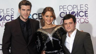 PHOTO: Liam Hemsworth, Jennifer Lawrence and Josh Hutcherson participate at the 39th Annual Peoples Choice Awards at Nokia Theater L.A. Live, Jan. 9, 2013, in Los Angeles.