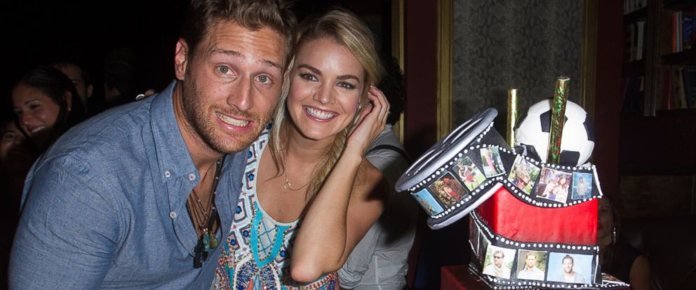 PHOTO: Juan Pablo Galavis and Nikki Ferrell pose with his birthday cake at his birthday party