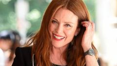 Julianne Moore Flashes a Smile in NYC