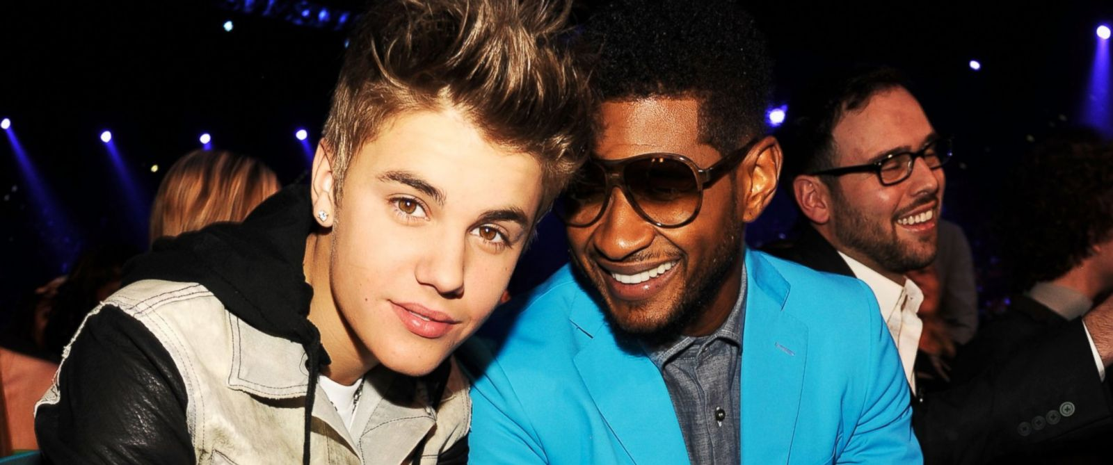 PHOTO: Singers Justin Bieber and Usher attend the 2012 Billboard Music Awards at the MGM Grand Garden Arena in this May 20, 2012, file photo in Las Vegas.