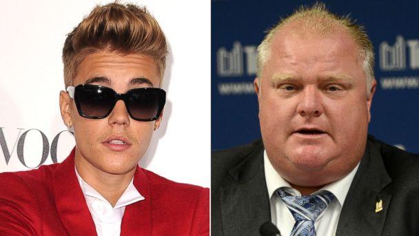GTY justin bieber rob ford split sr 140130 16x9 608 Oh, Canada: Rob Ford On Giving Justin Bieber a Break