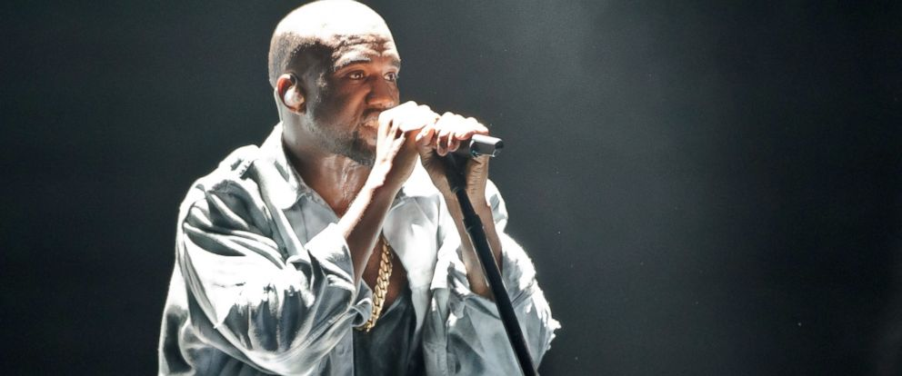 PHOTO: Kanye West performs on stage at Wireless Festival at Finsbury Park, July 5, 2014 in London.