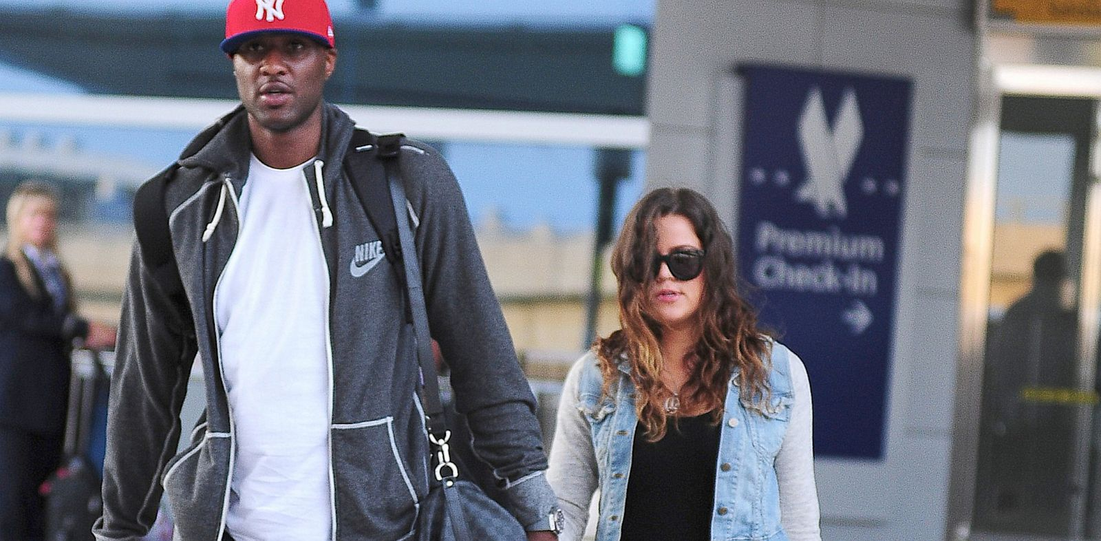 PHOTO: Lamar Odom and Khloe Kardashian are seen in New York, June 19, 2012.
