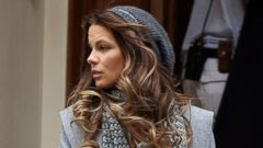 Kate Beckinsale Films Absolutely Anything In London