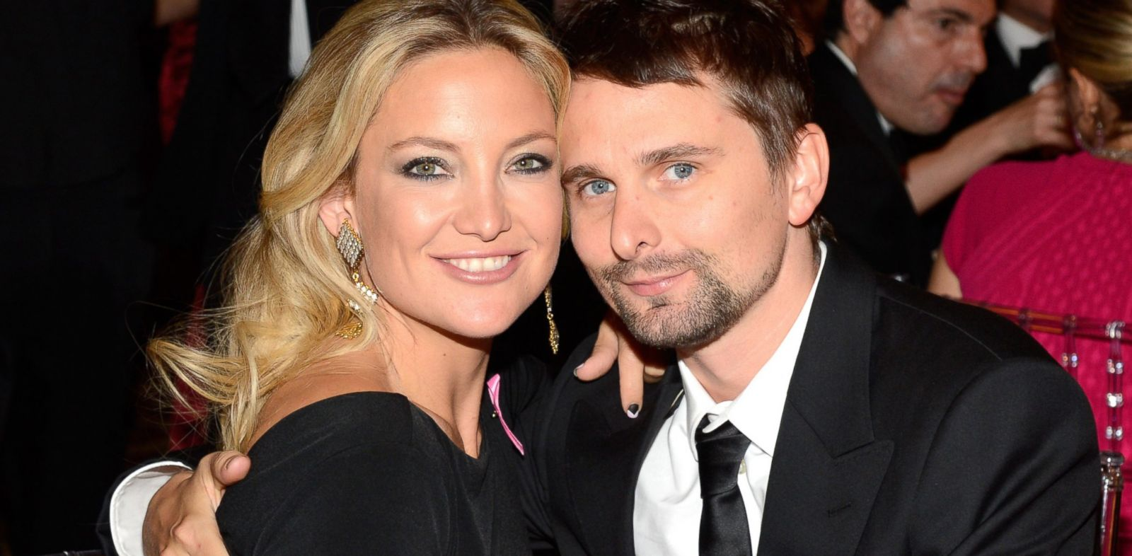 PHOTO: Kate Hudson and Matt Bellamy attend the Breast Cancer Foundations Hot Pink Party at the Waldorf Astoria Hotel in New York, April 17, 2013.