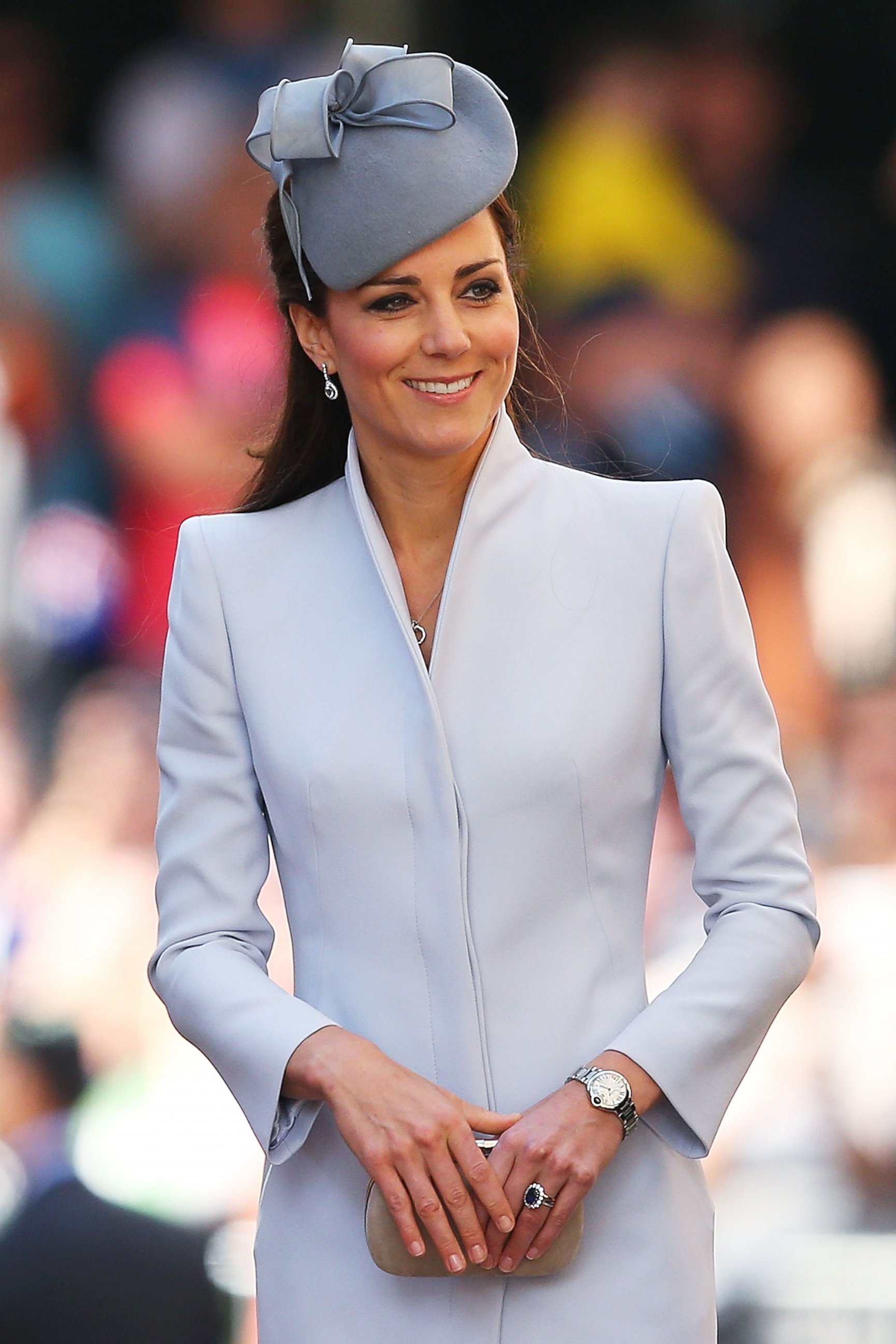 Kate Middleton Looks Glamorous in Shades of Gray
