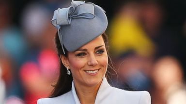 PHOTO: Kate Middleton Looks Glamorous in Dove Gray