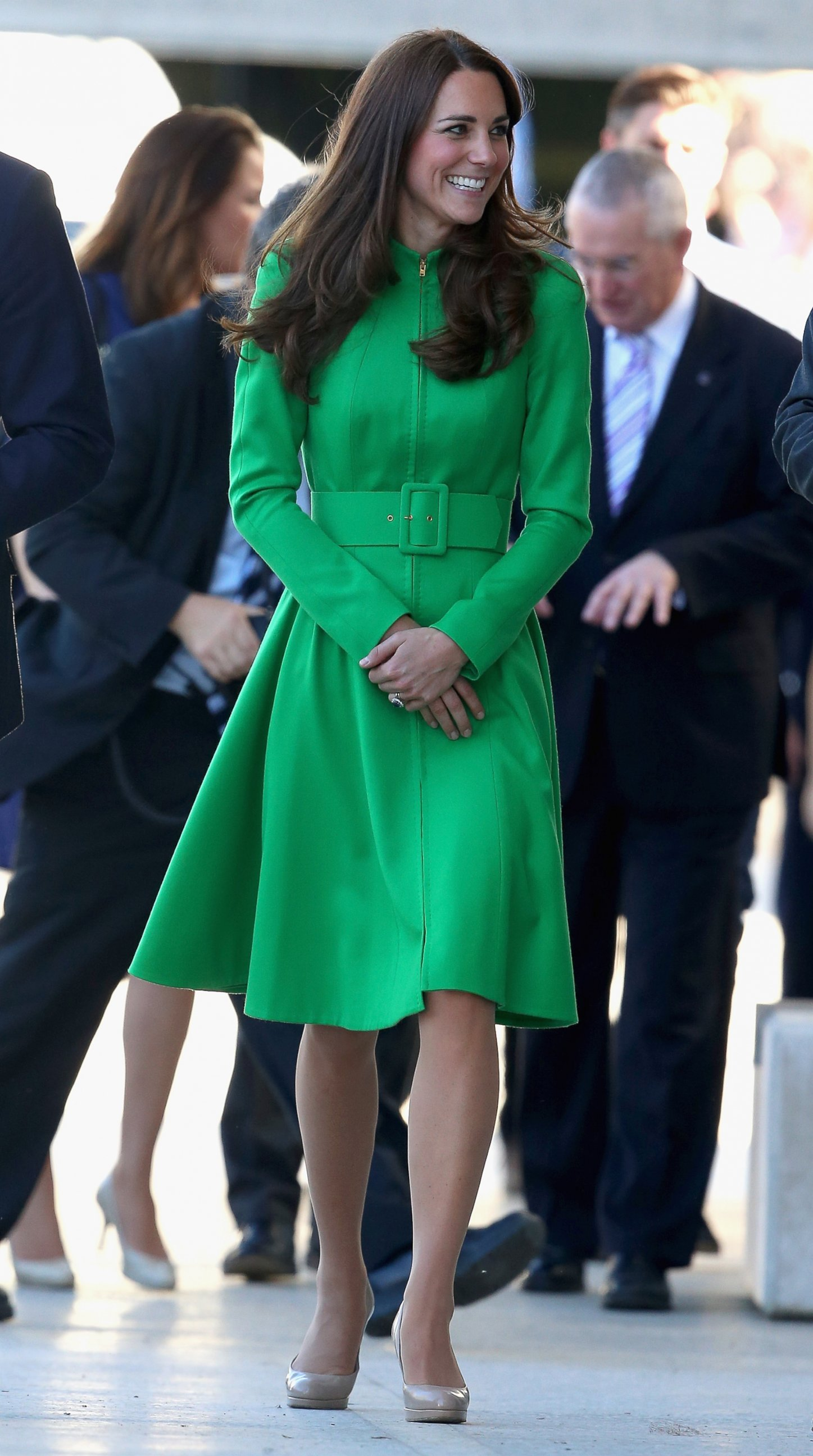 Kate Middleton Steps Out In Green