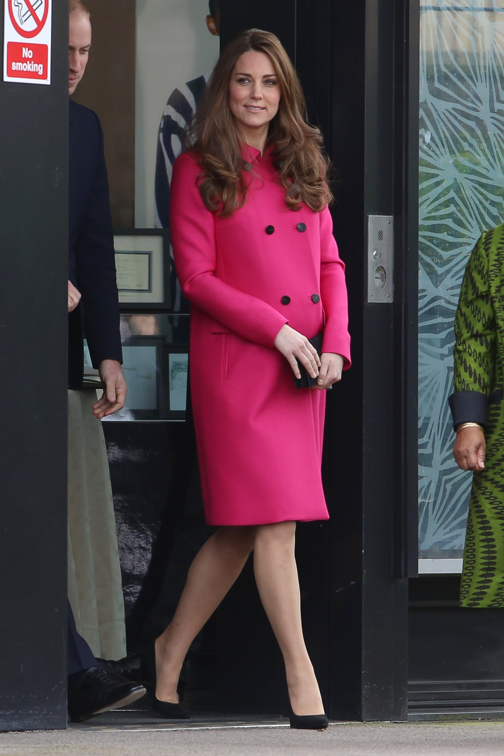 Duchess Kate Steps Out in Hot Pink
