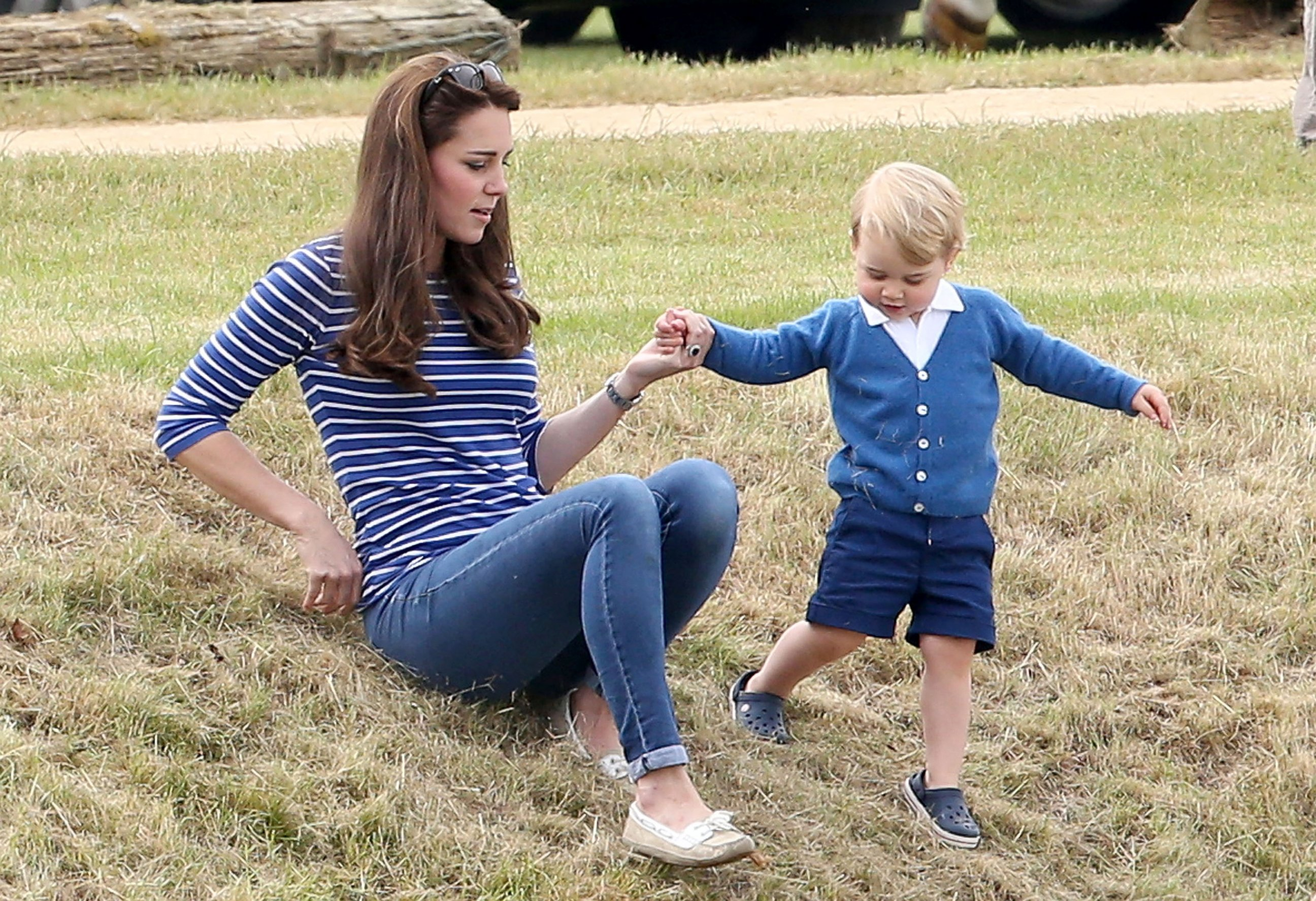 Duchess Kate and Prince George Enjoy a Polo Match