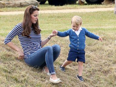 Duchess Kate and Prince George Enjoy a Polo Match