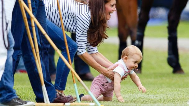 GTY kate middleton prince george jt 140615 16x9 608 Baby George Steals the Show at Prince Williams Fathers Day Polo Match