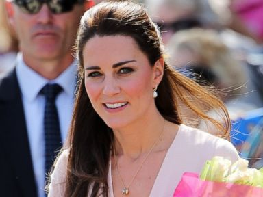 Photos: Kate Middleton Looks Pretty in Pink