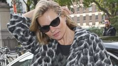 Kate Moss Makes a Stylish Office Entrance